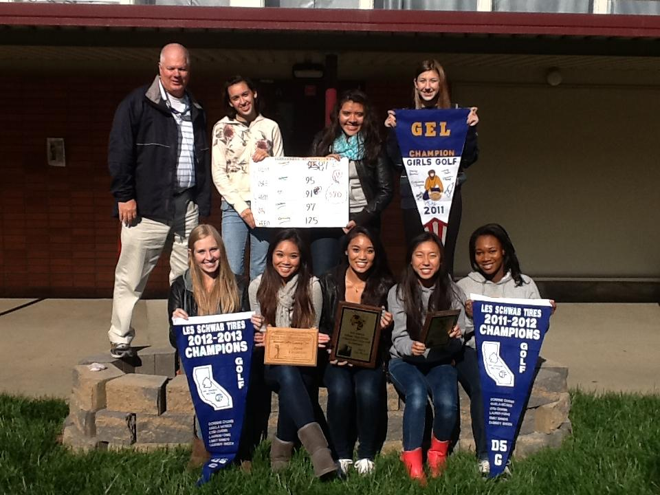 Image of West Campus girls golf team wins 2012-13 Sac-San Joaquin Division V Championship