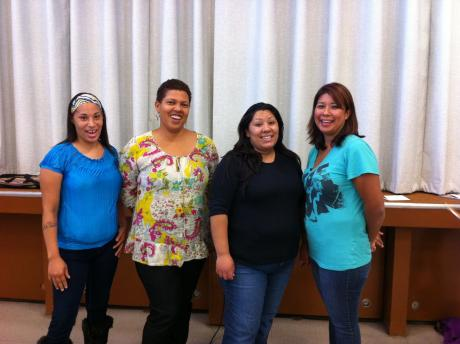 Clayton B. Wire PTA's Executive Board (left to right): Dominique Sears-Bowers, vice president; Rosa de Fisher, treasurer; Cecilia Alvarez, secretary; Maricela Sanchez, president