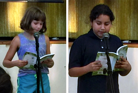 Student authors read from their published book
