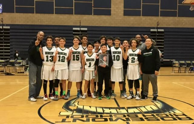 Sutter Boys Basketball Champions