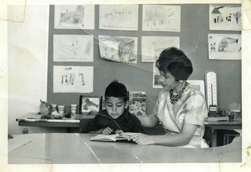 Superintendent Banda as a young boy at General Shafter School